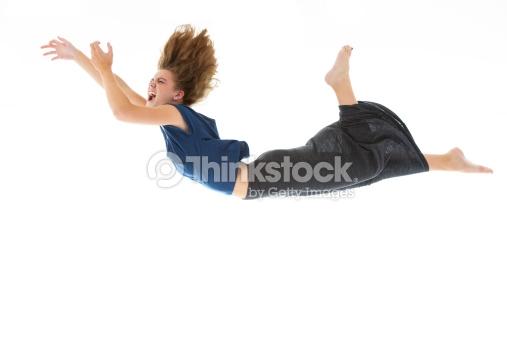 girl falling ditch